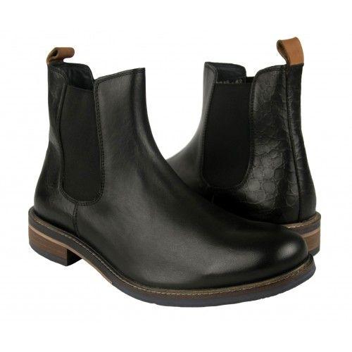 Stivali basici in pelle con chiusura elastica Zerimar - 1