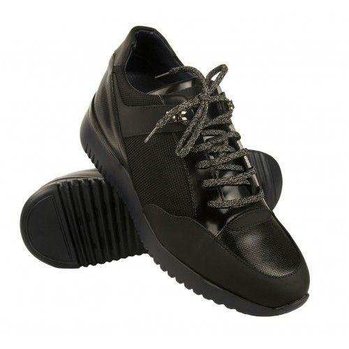 Sneakers con lacci con rialzo interno di 7 cm Zerimar - 1