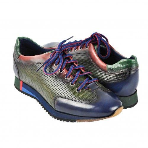 Sneakers marroni con lacci Zerimar - 1