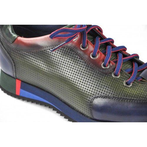 Sneakers marroni con lacci Zerimar - 2