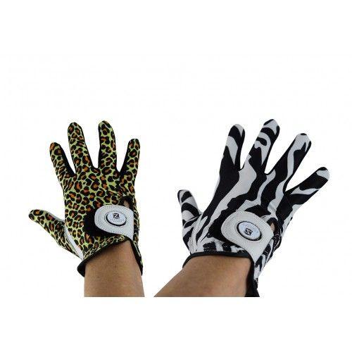 Confezione di guanti da golf in pelle con stampa animalier destrorsi Airel - 1