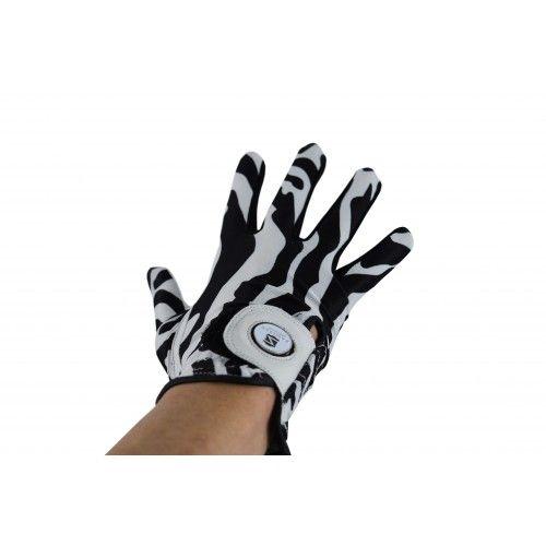 Confezione di guanti da golf in pelle con stampa animalier destrorsi Airel - 2