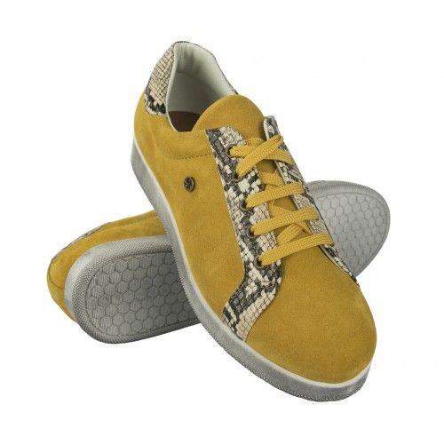 Sneaker in pelle colorata...