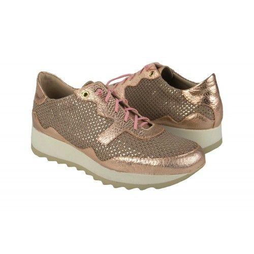 Sneakers metalliche con...