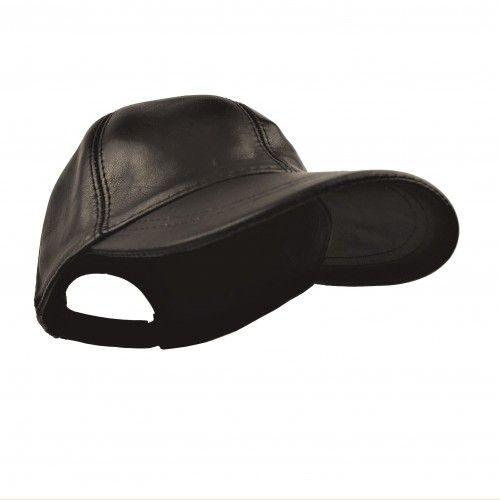 Cappellino in pelle invernale