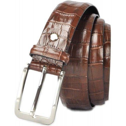 Cintura in pelle incisa in...