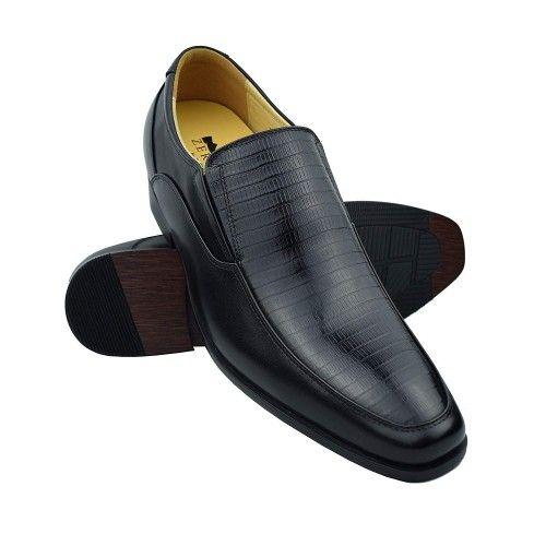 Scarpe classiche da uomo in pelle con rialzi di 7 cm Zerimar - 1
