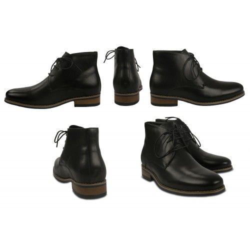 Stivali eleganti in pelle con rialzi che aumentano l'altezza di 7 cm Zerimar - 2