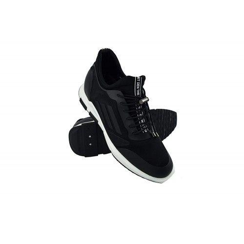 Sneakers casual in pelle con rialzo interno di 7 cm Zerimar - 1