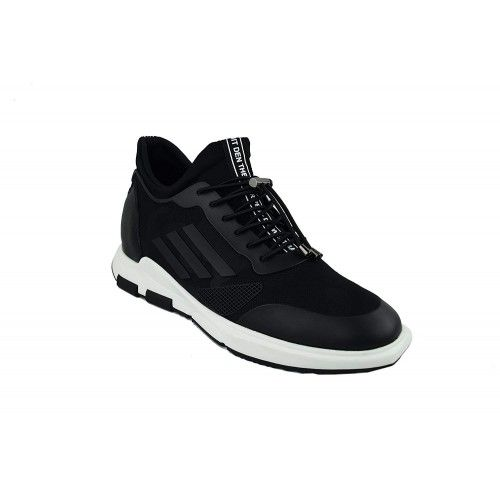 Sneakers casual in pelle con rialzo interno di 7 cm Zerimar - 2