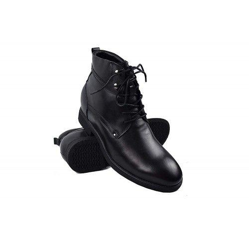 Stivali con rialzi interni aumentati di 7 cm Colore Nero Zerimar - 1