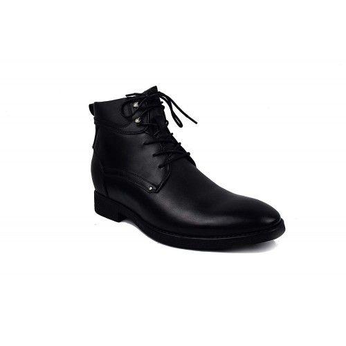 Stivali con rialzi interni aumentati di 7 cm Colore Nero Zerimar - 2