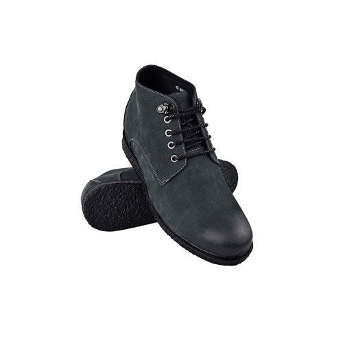 Stivali da uomo in pelle con rialzi interni aumentano di 6 cm Zerimar - 1