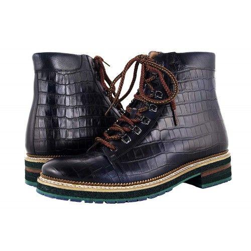 Stivali in pelle naturale con rialzi che aumentano l'altezza di 7 cm Zerimar - 1