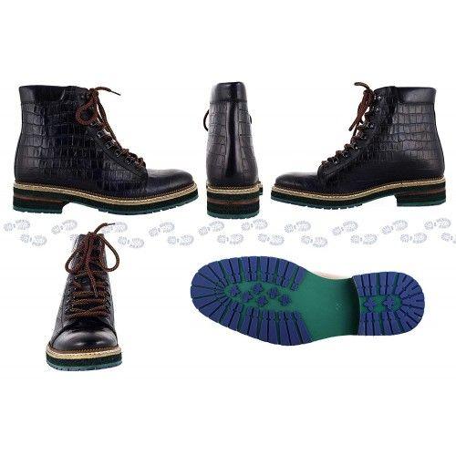 Stivali in pelle naturale con rialzi che aumentano l'altezza di 7 cm Zerimar - 2