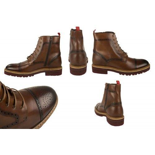 Stivali in pelle stile oxford con rialzo interno di 7 cm Zerimar - 2