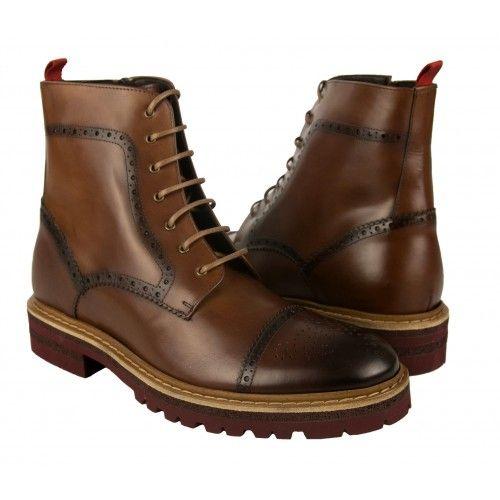 Stivali in pelle stile oxford con rialzo interno di 7 cm Zerimar - 1