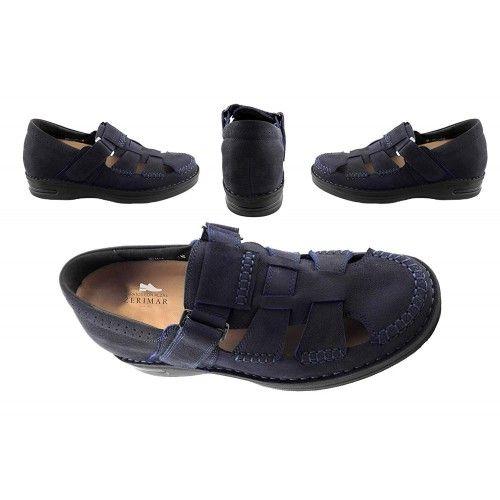 Sandali da uomo in pelle con rialzi che aumentano l'altezza di 7 cm Zerimar - 2