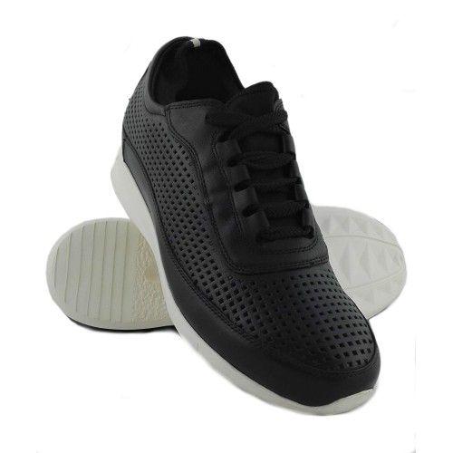 Scarpe sportive in pelle fustellata e con rialzi di 7 cm Zerimar - 1
