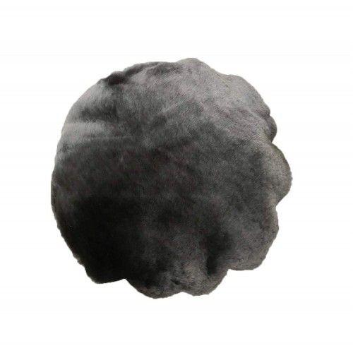 Cuscino decorativo in pelle di agnello con imbottitura inclusa 37 cm di diametro Zerimar - 1