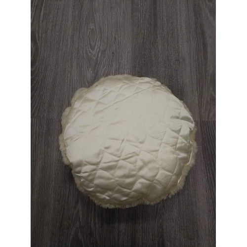 Cuscino decorativo in pelle di agnello con imbottitura inclusa diametro 35 cm Zerimar - 2