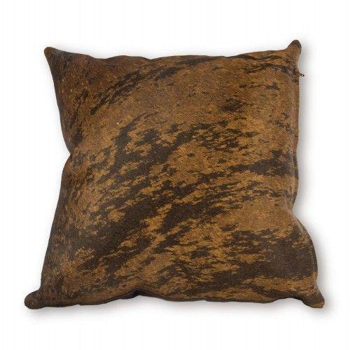 Cuscino in pelle di mucca di alta qualità 40x40 cm Zerimar - 1