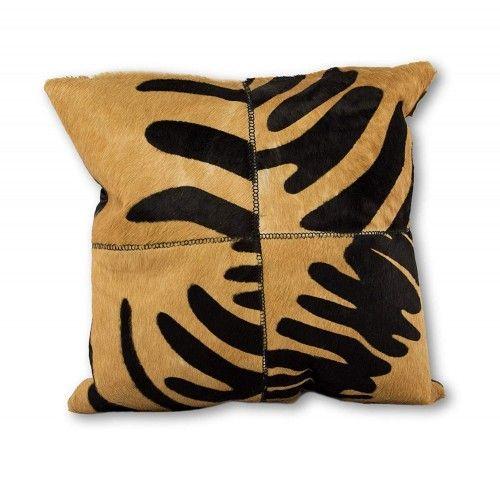 Cuscino in pelle bovina di alta qualità 40x40 cm Zerimar - 1