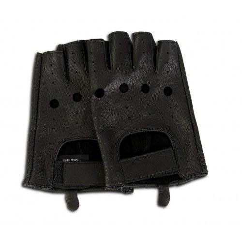 Guanti in pelle senza dita per guidatori Zerimar - 7