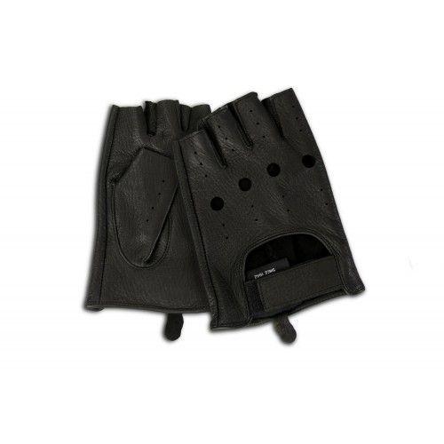 Guanti in pelle senza dita per guidatori Zerimar - 8