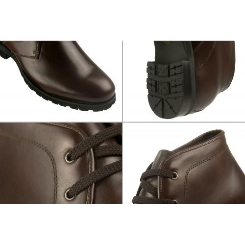 Stivali di pelle con riser marroni da 7 cm Zerimar - 2