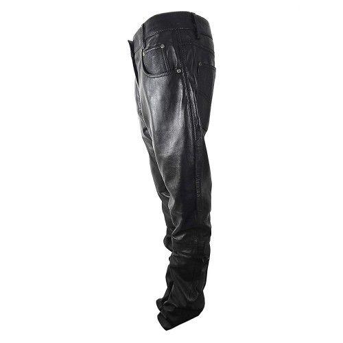 Pantaloni da moto in cuoio