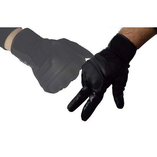 Guanti da moto in pelle e tessuto con protezioni incluse Kenrod - 1