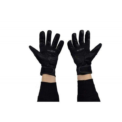 Guanti da moto in pelle e tessuto con protezioni incluse Kenrod - 2