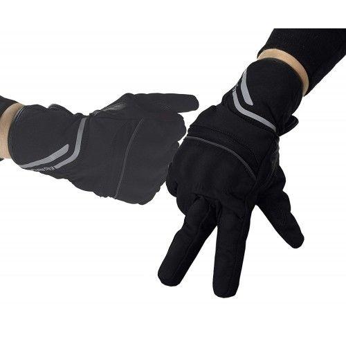 Guanti da moto di pelle e tessuto con protezioni Kenrod - 1