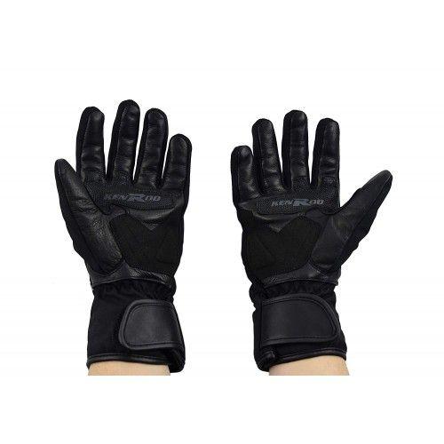 Guanti da moto di pelle e tessuto con protezioni Kenrod - 2
