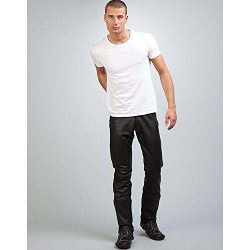 Pantaloni di pelle con tasche