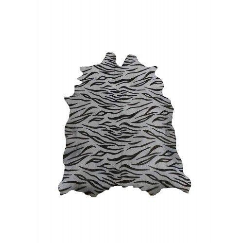 Tappeto tigre naturale in pelle di capra tinta 95x80 cm Zerimar - 1