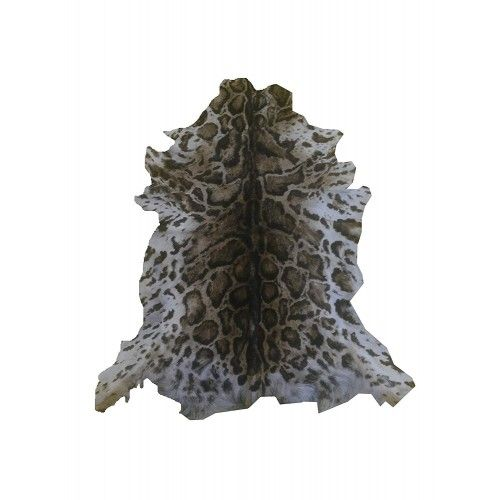 Tappeto in pelle di capra naturale 100x85 cm imitazione Ocelot Zerimar - 1