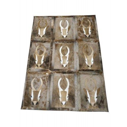 Tappeto in gazzella naturale Springbok in pelle 160x116 cm Zerimar - 1
