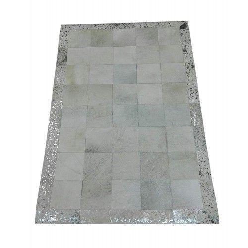 Tappeto patchwork in pelle bovina 180x120 cm Zerimar - 1