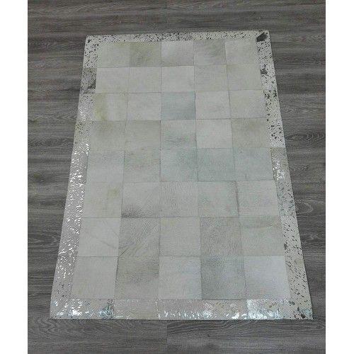 Tappeto patchwork in pelle bovina 180x120 cm Zerimar - 2