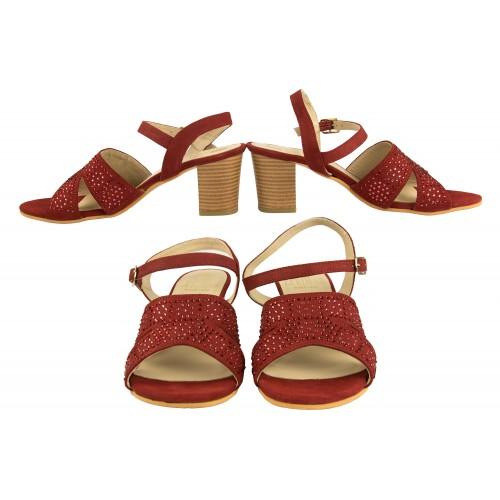 Sandali in pelle glitterati...