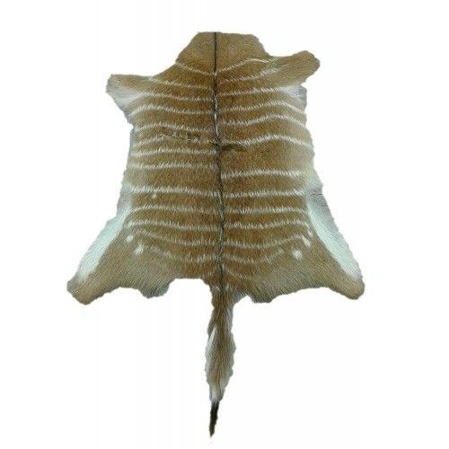 Tappeto in pelle Nyala africana 75x75 cm Zerimar - 1