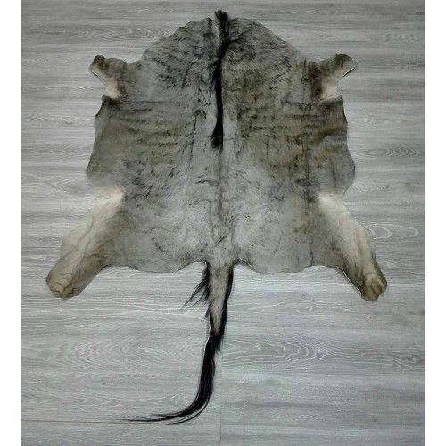 Tappeto gnu africano naturale 145x145 cm Zerimar - 2