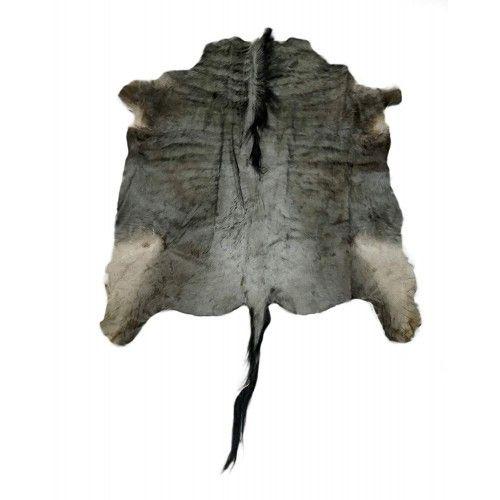 Tappeto gnu africano naturale 140x130 cm Zerimar - 1