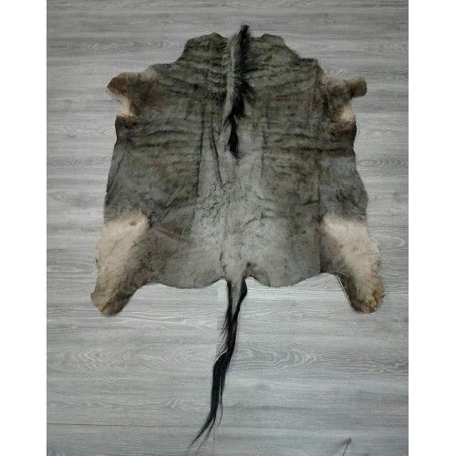 Tappeto gnu africano naturale 140x130 cm Zerimar - 2