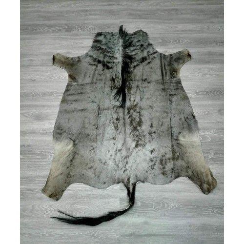 Tappeto gnu africano naturale 150x135 cm Zerimar - 2