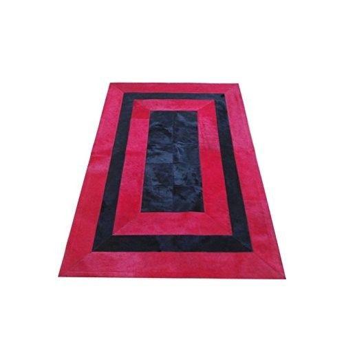 Tappeto patchwork di mucca naturale 120x180 cm Zerimar - 1