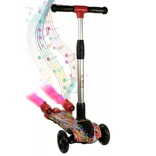 Scooter pieghevole a 3 ruote con musica e vapore da 3 a 10 anni Airel - 16