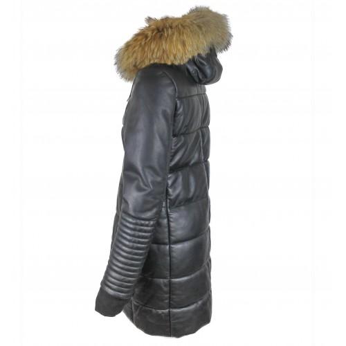 Piumino con cappuccio in pelliccia Zerimar - 2